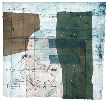 Jeremy Gardiner St. Michael's Mount Monoprint 60 x 60 cm