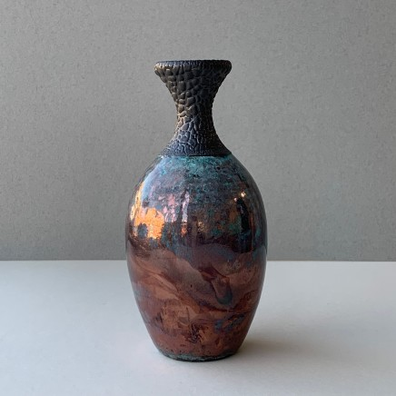 Keith Menear Raku Bottle Luster Glaze Ceramic 15 x 7 cm 1810-7
