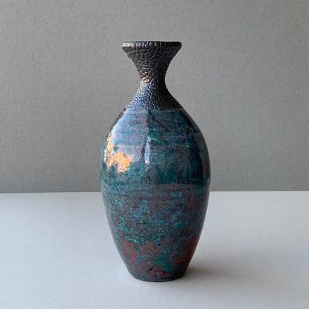 Keith Menear Raku Bottle Luster Glaze Ceramic 15 x 7 cm