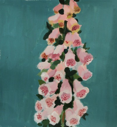 Charlotte Hardy Foxglove Mixed media on paper 18 x 16 cm
