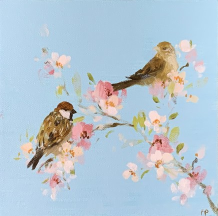Fletcher Prentice Song Birds on Blossom Oil on canvas 20 x 20 cm