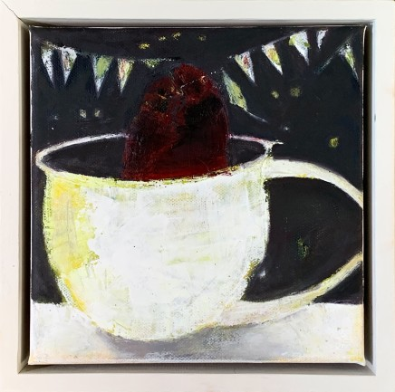 Marilyn Browning Plum Oil on Canvas 20 x 20 cm