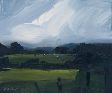 Robert Newton  Going Home  Oil on canvas  20 x 24 cm