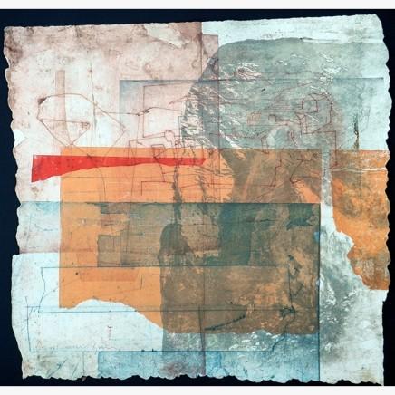 Jeremy Gardiner St. Ives, Summer Monoprint 60 x 60 cm