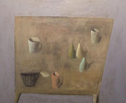 Nicholas Turner RWA, Table with Three Pears