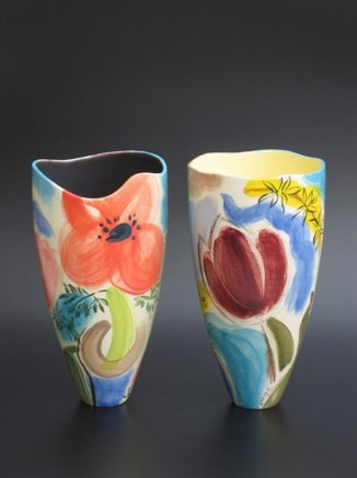 Ingrid Saag Anemones Glazed white earthenware H: 26 cm