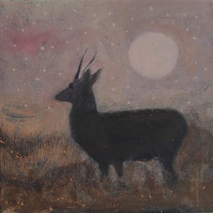 Catherine Hyde The Silvered Moon, 2018 Acrylic on canvas 30.5 x 30.5 cm