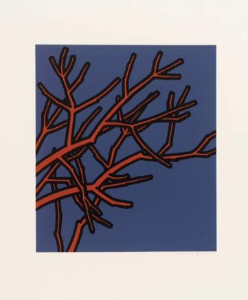 Patrick Caulfield RA Jules Laforgue - All the benches are wet, the woods are so rusty (Edition C), 1973 Screenprint. 61 x 56 cm Framed Edition of 100