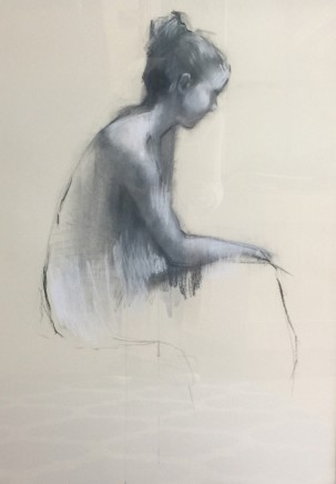 India Amos Figure turning Pastel and charcoal on paper 81 x 61 cm