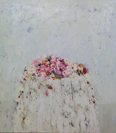 Lorraine Wake White Table Oil on canvas 90 x 90 cm