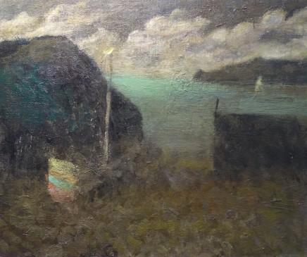 Nicholas Turner RWA Green Sea Oil on board 25.5 x 30.5 cm