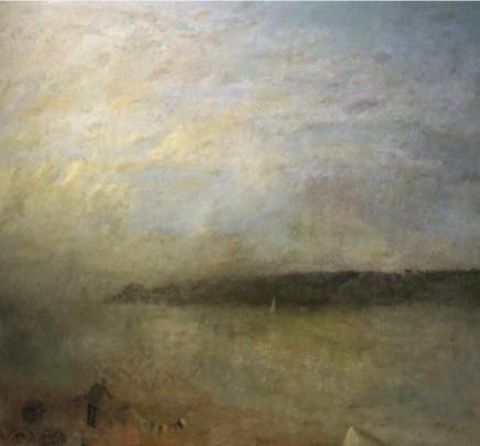 Nicholas Turner RWA, Figure on Beach with Creels