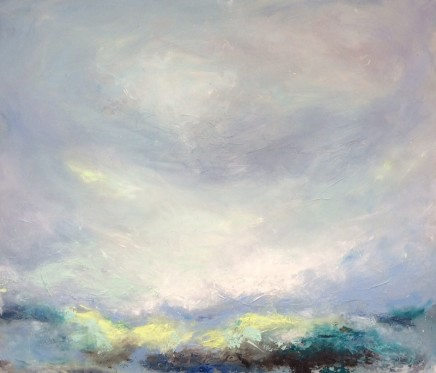 Georgie Mason Lime Sea Oil on board 69 x 80 cm