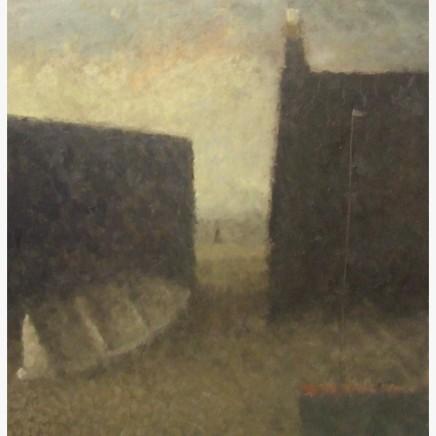 Nicholas Turner RWA White Boat Oil on linen 38 x 38 cm