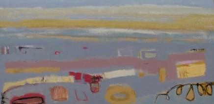 Stephanie Stow October Glow Acrylic on canvas 50 x 100 cm