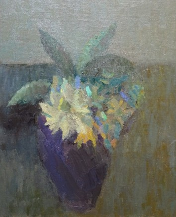 Nicholas Turner RWA Flowers Oil on board 30.5 x 25.5 cm