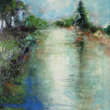 Nicola Rose Stillness Oil on canvas 60 x 60 cm