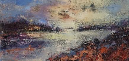 Nicola Rose Island Estuary Oil and sand on canvas 30 x 60 cm