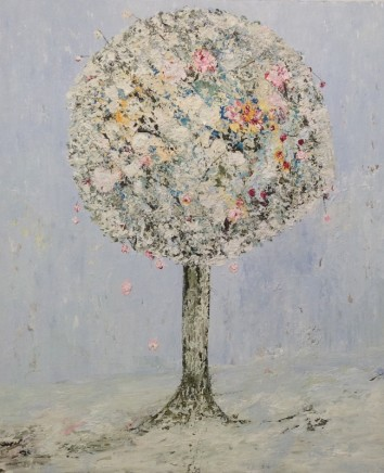 Lorraine Wake Story Tree Oil on canvas 91 x 76 cm