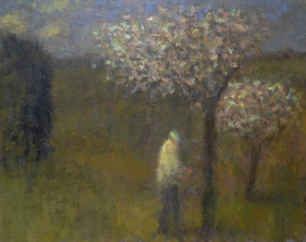 Nicholas Turner RWA Orchard Springtime Oil on linen 20 x 25cm