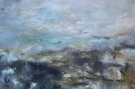 Debra Royston Blustery Skies Mixed media on canvas 100 x 150 cm