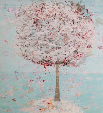 Lorraine Wake Confetti Tree Oil on canvas 90 x 90 cm