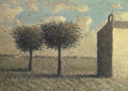 Nicholas Turner RWA, Chapel with Crows