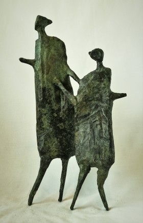 Neil Wood Mother & Child III, 2018 Bronze 36 x 19 x 10 cm Edition of 9