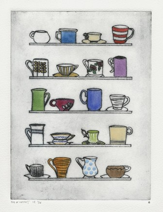 Devi Singh Tea or Coffee? Etching 20 x 15 cm