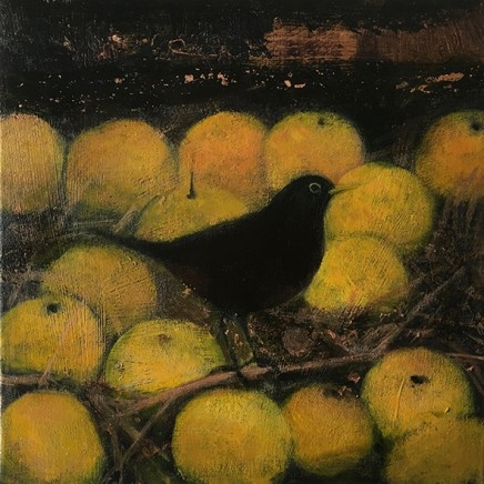 Catherine Hyde The Golden Apples Of The Sun, 2018 Acrylic on canvas 30.5 x 30.5 cm