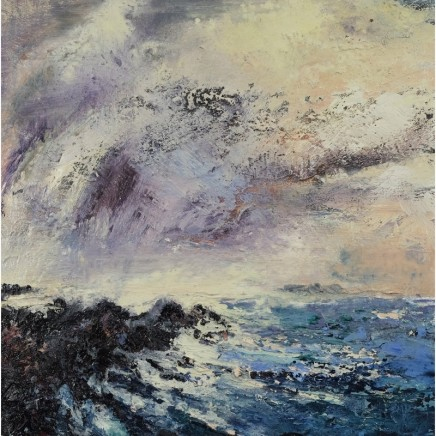 Nicola Rose St Columba's Beach Oil and sand on canvas 60 x 60 cm