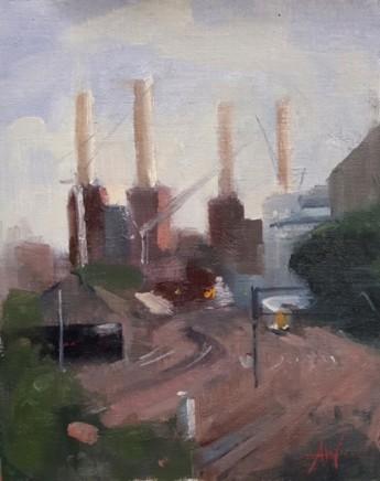 Archie Wardlaw Battersea Power Station Oil on canvas 25 x 20 cm