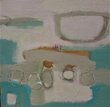Stephanie Stow Into the Blue Atlantic Acrylic on canvas 30 x 30 cm