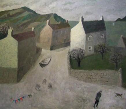 Nicholas Turner RWA, Creels, Bunting and Running Cat