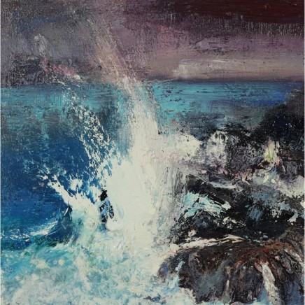Nicola Rose Unstoppable Oil and sand on canvas 50 x 50 cm