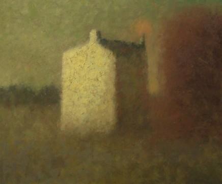 Nicholas Turner RWA Moon Oil on board 26 x 30 cm
