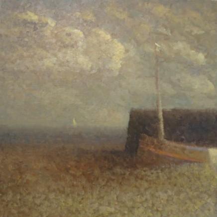 Nicholas Turner RWA, Beach with Sail