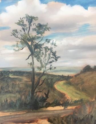 Tim Daoust Landscape path Oil on Belgium linen 25 x 20 cm