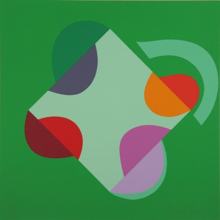 Sir Terry Frost RA, Development of a Square within a Square(green), 1999