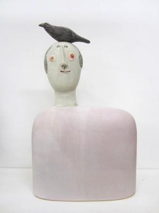 Jane Muir  Bird Shoulder, Pink  Ceramic  48 x 30 x 10 cm