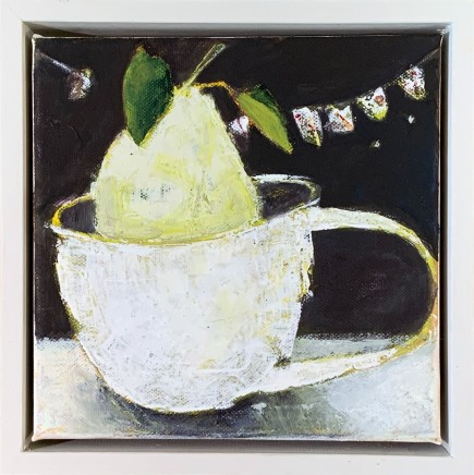 Marilyn Browning Pear Oil on Canvas 20 x 20 cm