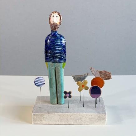Jane Muir Man, Garden Ceramic 26 x 17 x 9.5 cm