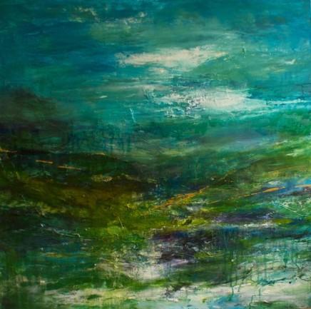 Debra Royston Turned Mixed media on canvas 100 x 100 cm