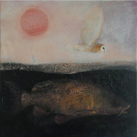 Catherine Hyde, The Carp in his Depth (from 'The Warm and the Cold' by Ted Hughes) Acrylic on canvas