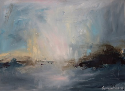Georgie Mason Koh Nagi Sky Oil on board 61 x 82 cm