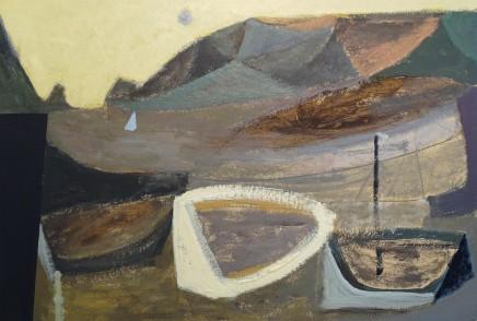 Nicholas Turner RWA, Harbour and Blue Sun