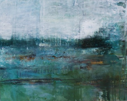 Debra Royston Wild Swimming Mixed Media on Canvas 120 x 150 cm