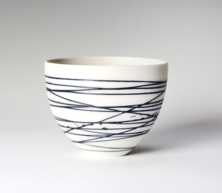 Ali Tomlin, Small Cup/Bowl, Blue Lines