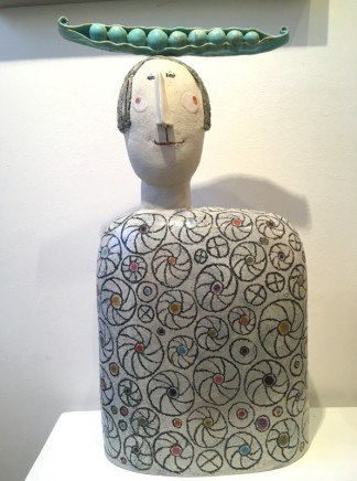 Jane Muir Pea-pod head Ceramic