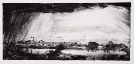 Robert Newton Hail Monotype 18 x 50 cm